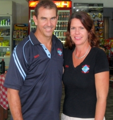 Owners Brett and Kerryn Haupt